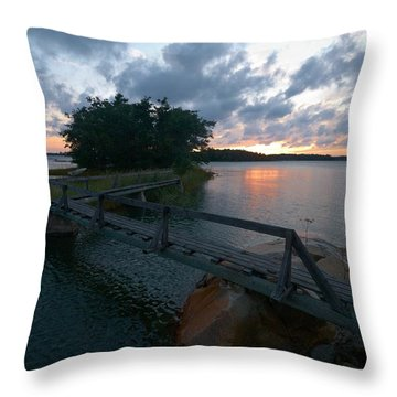 Throw Pillow featuring the photograph Variations Of Sunsets At Gulf Of Bothnia 6 by Jouko Lehto