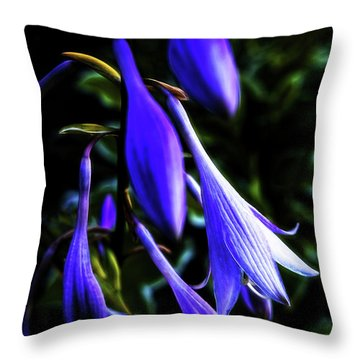 Varigated Hosta Bloom Throw Pillow