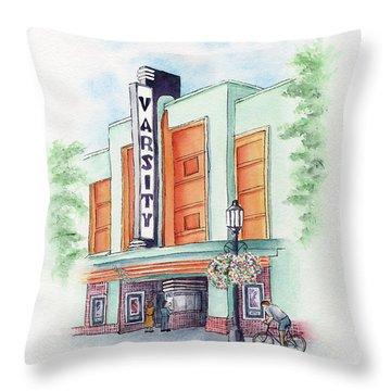 Varsity On Main Throw Pillow