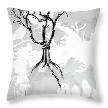 Vase Throw Pillow by Barbara Andolsek