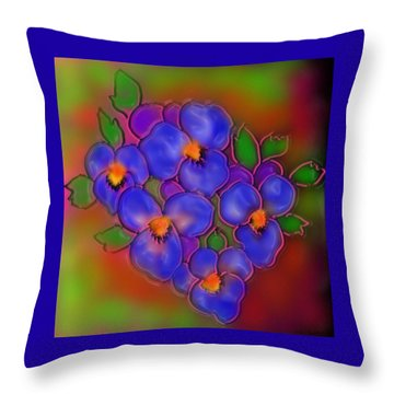 Vasant Panchami Throw Pillow by Latha Gokuldas Panicker