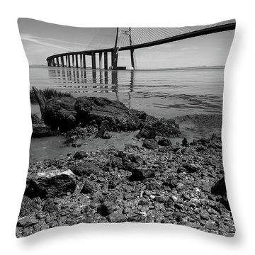 Vasco Da Gama Bridge II Throw Pillow