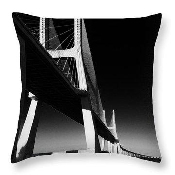 Vasco Da Gama Bridge Lisbon 4 Throw Pillow