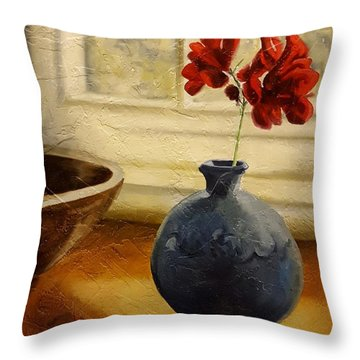 Vase And Bowl Throw Pillow