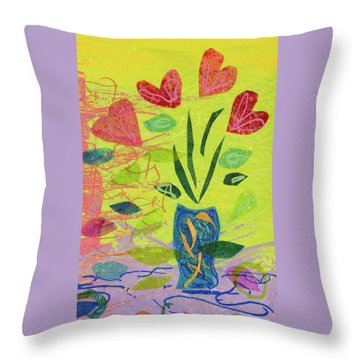 Vase Full Of Love Throw Pillow