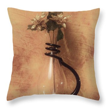 Vase Of Gold Throw Pillow