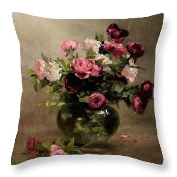 Rosaceae Throw Pillows