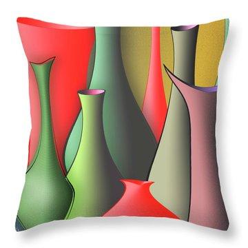Vases Still Life Throw Pillow by Ben and Raisa Gertsberg