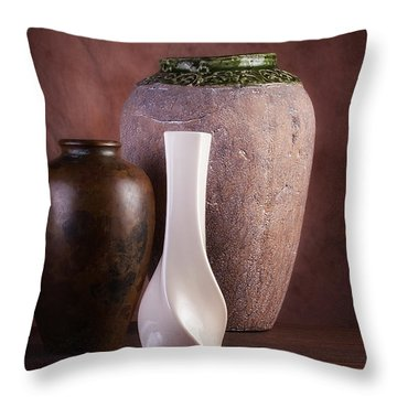 Vases With A Twist Throw Pillow