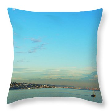 Throw Pillow featuring the photograph Vashon Island by Angi Parks