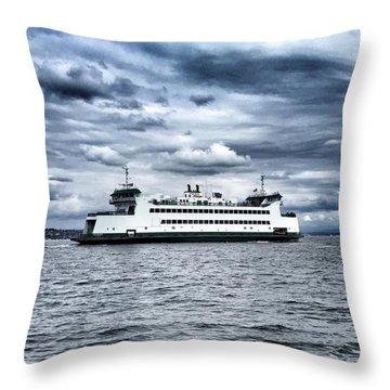 Vashon Island Ferry Throw Pillow