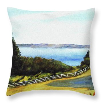 Throw Pillow featuring the painting Vashon Island by Marti Green