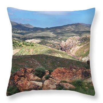 Vasquez Rocks Park Throw Pillow