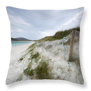 Vatersay Beach Throw Pillow