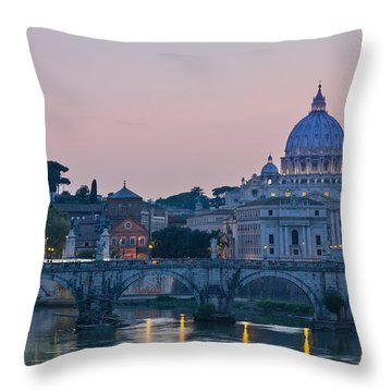Vatican City At Sunset Throw Pillow