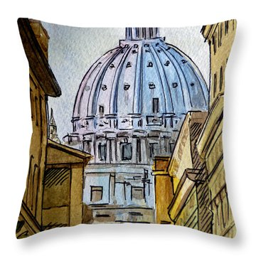 Vatican City Throw Pillow by Irina Sztukowski