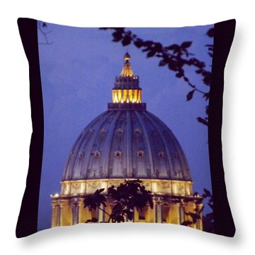 #vatican #dome #sanpeter #basilica Throw Pillow by Lorin Braticevici