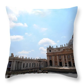 Vatican On Sunny Day Throw Pillow