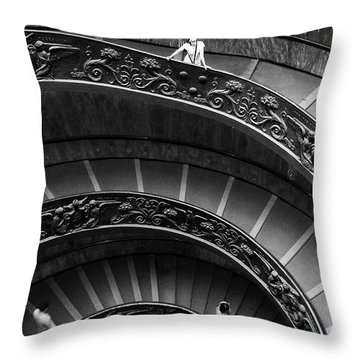 Vatican Stairs Throw Pillow
