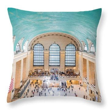 Vault Of The Heavens At Grand Central Terminal Throw Pillow