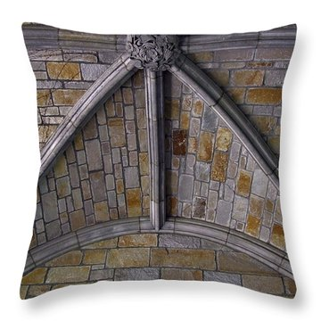 Vaulted Stone Ceiling Throw Pillow