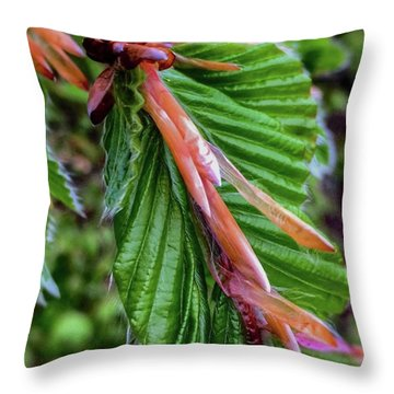 Beech  Throw Pillow by Majse Tange