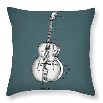 Vega Guitar Patent 1949 Throw Pillow