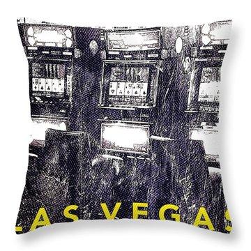 Vegas Airport Slots Throw Pillow