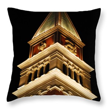 Throw Pillow featuring the photograph Vegas At Nite by Maggy Marsh