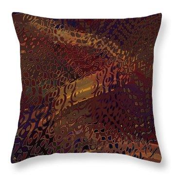 Throw Pillow featuring the digital art Vegas Carpet by Constance Krejci