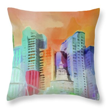 Vegas New York Throw Pillow