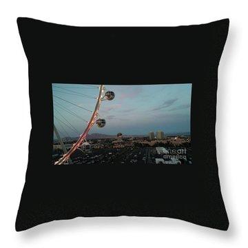 Vegas Strip Throw Pillow