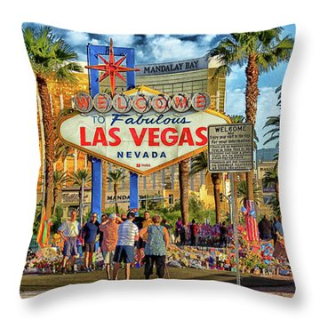Vegasstrong Throw Pillow