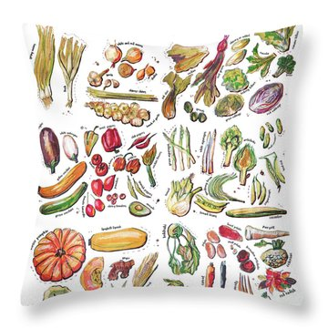 Vegetable Encyclopedia  Throw Pillow