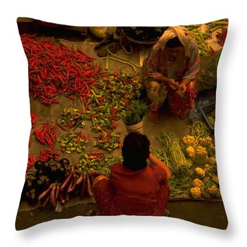Green Travelpics Throw Pillows
