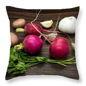 Vegetables Still Life Throw Pillow