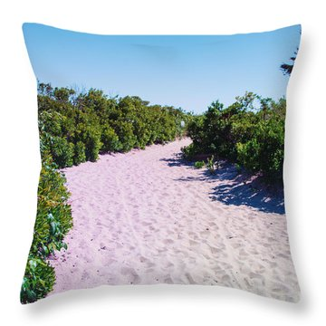 Vegetation And Sand Throw Pillow