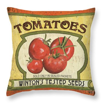 Veggie Seed Pack 3 Throw Pillow