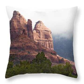 Throw Pillow featuring the photograph Veiled In Clouds by Phyllis Denton