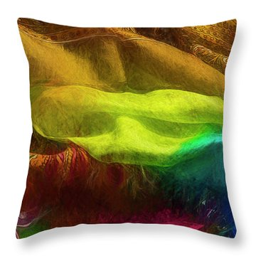 Veiled Mask Throw Pillow