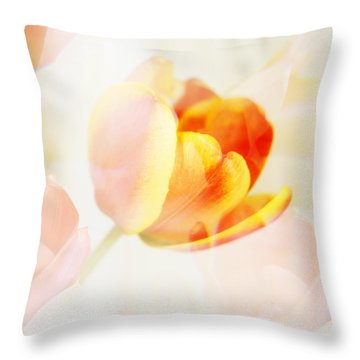 Veiled Tulip Throw Pillow