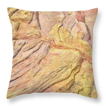 Throw Pillow featuring the photograph Veins Of Gold In Valley Of Fire by Ray Mathis