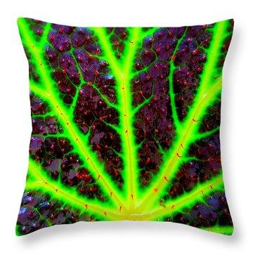 Veins On A Leaf Throw Pillow