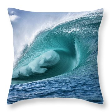 Velocity Curl Throw Pillow