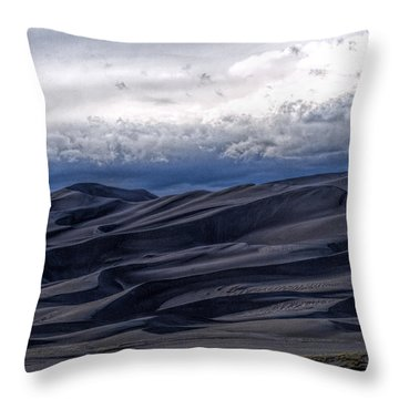 Velvet At Night Throw Pillow by Alana Thrower
