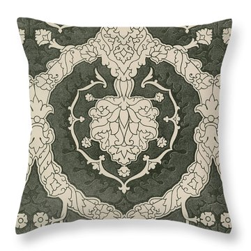 Velvet Hangings, 16th Century Throw Pillow
