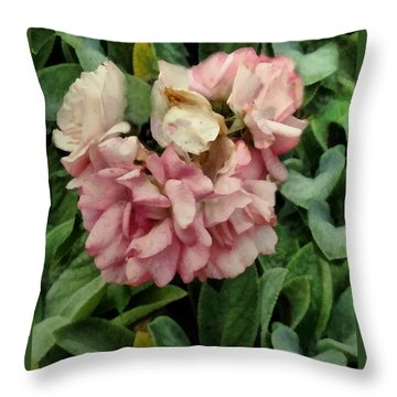 Velvet In Pink And Green Throw Pillow by RC deWinter