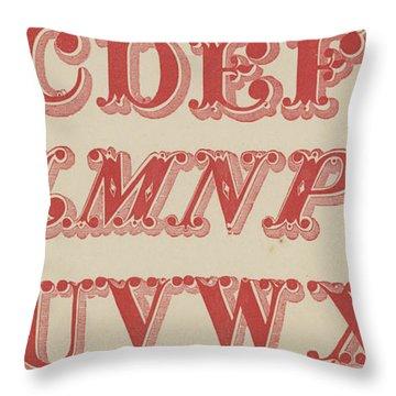 Velvet Letter  Throw Pillow