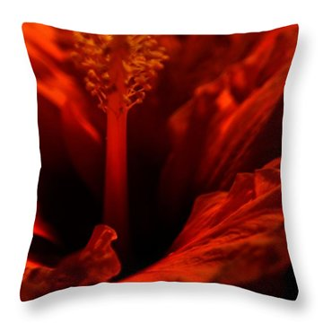 Velvet Seduction Throw Pillow by Sheila Ping