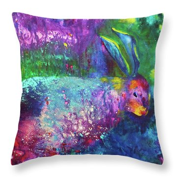 Velveteen Rabbit Throw Pillow by Claire Bull